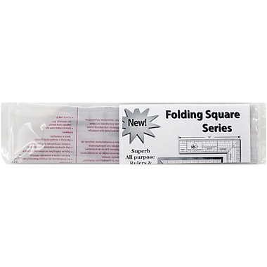 Quint Measuring Systems Folding Square Ruler, Clear, 3 1/2