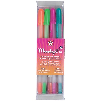 Sakura® Gelly Roll® Moonlight® 10 Cube Collection Gel Pen Set, Bold Point, Assorted, 16/Pack