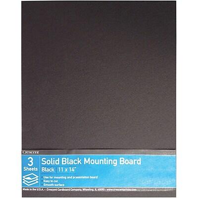 Crescent® Ultra-Black® Mounting Board, Solid Black, 11