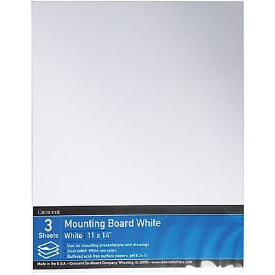 Crescent® Mounting Board, White, 11