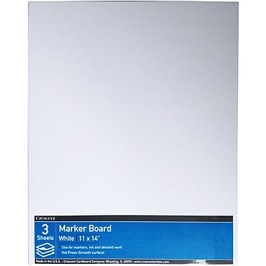 Crescent® Hot Press Marker Board Value Pack, White, 11