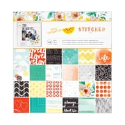 "American Crafts™ Amy Tangerine Stitched Paper Pad, 12"" x 12"", 48 Sheets"