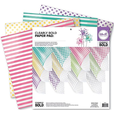 We R Memory Keepers™ Clearly Bold™ Acetate Pad, 12