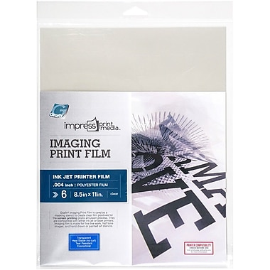 Grafix® Impress Imaging Ink Jet Print Film, Clear, 8.5