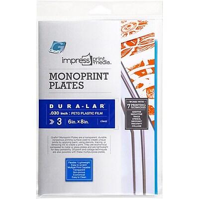 Grafix® Dura-Lar® Impress Monoprint Plate, Clear, 6
