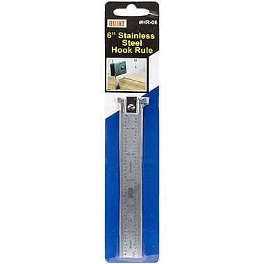Quint Measuring Systems Stainless Steel Hook Rule, 6