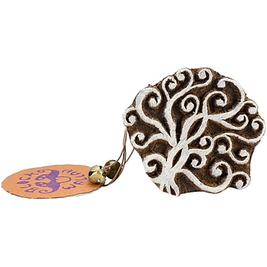 Blockwallah Swirl Block Stamp, 2 1/4