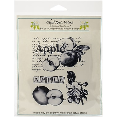 Chapel Road Apple Montage Cling Stamp, 5 3/4