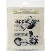 """Chapel Road Apple Montage Cling Stamp, 5 3/4"""" x 6 3/4"""""""