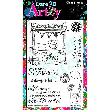 Dare 2B Artzy Lemonade Stand Stamp, Clear, 4