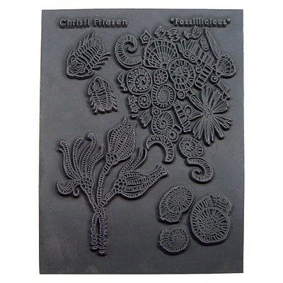 Great Create Fossillicious Texture Stamp, 5 1/2
