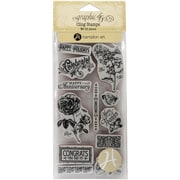 "Hampton Art #2 Time To Flourish Cling Stamp, 8"" x 4"""