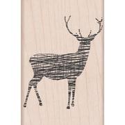 """Hero Arts® Cross-Hatch Reindeer Stamp, 2"""" x 3"""""""