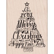 "Hero Arts® Merry Christmas Tree Stamp, 3 1/4"" x 4 1/4"""