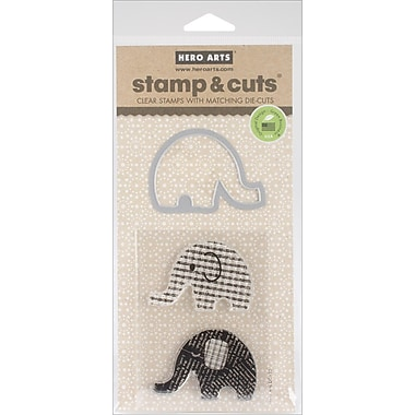 Hero Arts® Elephant Stamps & Cuts, Clear