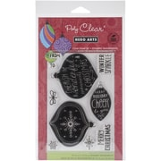 """Hero Arts® Winter Sparkle Stamp, Clear, 4"""" x 6"""""""