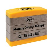 "Kellycraft Duck Commander® Stakz Duckmen Stamp Set, Tan/Yellow, 2"" x 2.75"" x 0.9"""