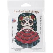 "La-La Land Crafts Dia De Los Muertos Marci Cling Stamp, 4"" x 3"""