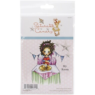 Saturated Canary My Room Cling Stamp, 4