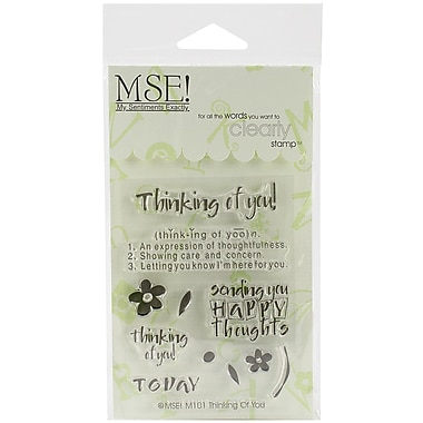 My Sentiments Exactly Thinking Of You Stamp, Clear, 3