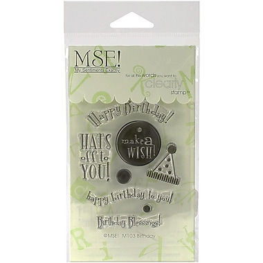 My Sentiments Exactly Birthday Stamp, Clear, 3