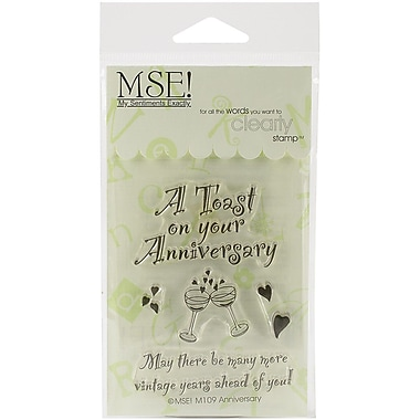 My Sentiments Exactly Anniversary Stamp, Clear, 3