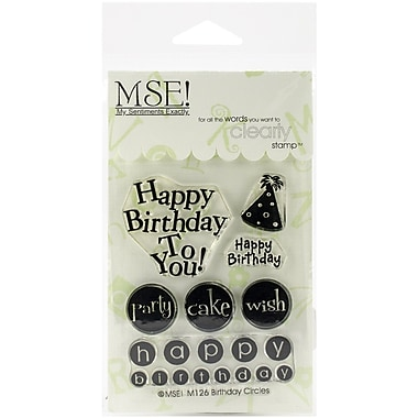 My Sentiments Exactly Birthday Circles Stamp, Clear, 3