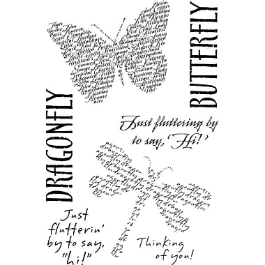 My Sentiments Exactly Fluttering By Stamp, Clear, 4