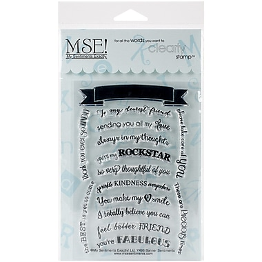 My Sentiments Exactly Banner Sentiments Stamp, Clear, 4