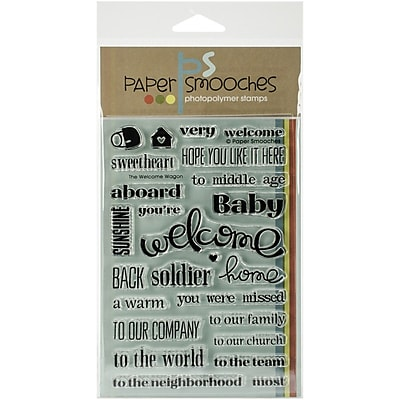 Paper Smooches Welcome Wagon Stamp, Clear, 4