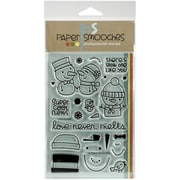 """Paper Smooches Cool Dudes Stamp, Clear, 4"""" x 6"""""""