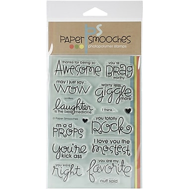 Paper Smooches Uplifters Stamp, Clear, 4