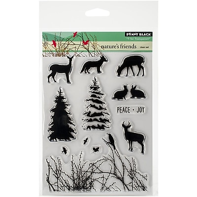 Penny Black® Nature's Friends Stamp, Clear, 5
