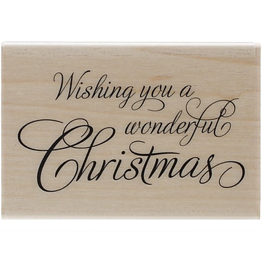 Penny Black® Festive Wishes Mounted Stamp, 2