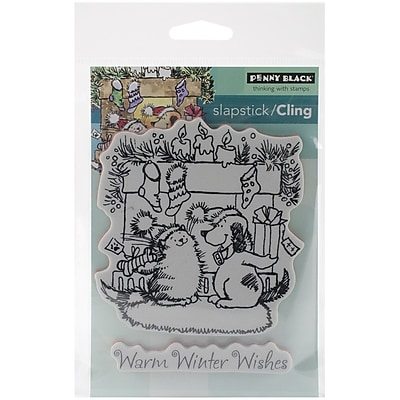 Penny Black® Warm Wishes Cling Stamp, 3.7