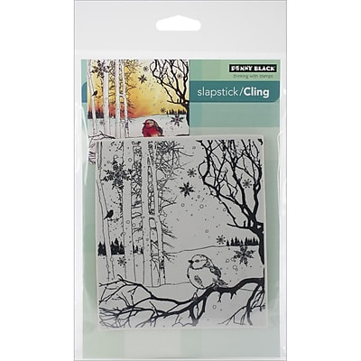 Penny Black® Winter Song Cling Stamp, 4 1/4