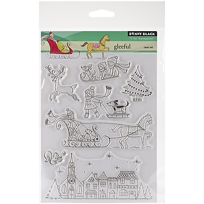 Penny Black® Gleeful Stamp, Clear, 5