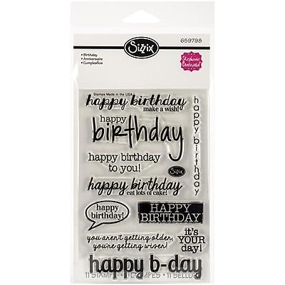 Sizzix® Birthday Stamp, Clear, 4
