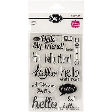 Sizzix® Hello Stamp, Clear, 4