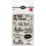 "Sizzix® Hello Stamp, Clear, 4"" x 6"""