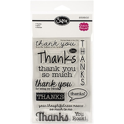 Sizzix® Thanks Stamp, Clear, 4