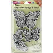 Stampendous® Penpattern Butterflies Cling Stamp Set