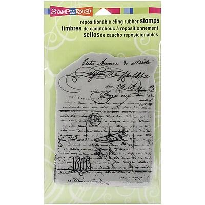 Stampendous® Vintage Letter Cling Stamp Set, 4
