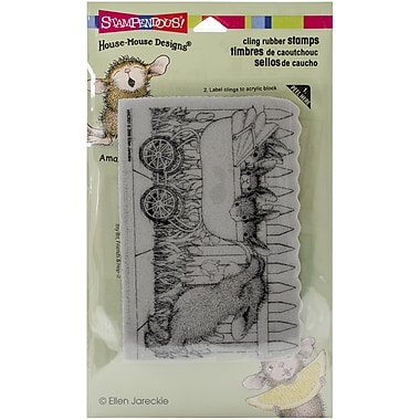 Stampendous® Baby Buggy Bunnies Cling Stamp, 4 1/2