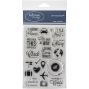 """Technique Tuesday® Going Places Stamp, Clear, 4"""" x 6"""""""