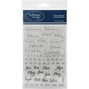 """Technique Tuesday® Many Months Stamp, Clear, 4"""" x 6"""""""