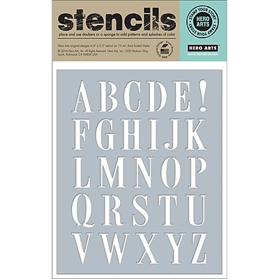 Hero Arts® Subway Letters Stencil, 6 1/4