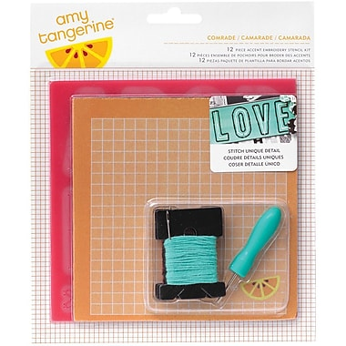 American Crafts™ Comrade Embroidery Stencil Kit