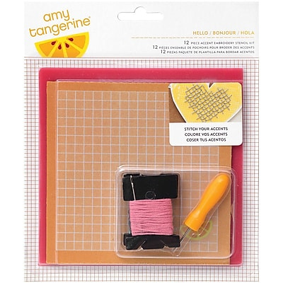 American Crafts™ Hello Embroidery Stencil Kit