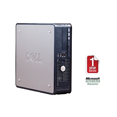 Refurbished Dell 760 SFF Core 2 Duo-2.93GHz, 4GB RAM, 250GB Hard Drive, DVD Rom, Win 10 Pro 64BIT